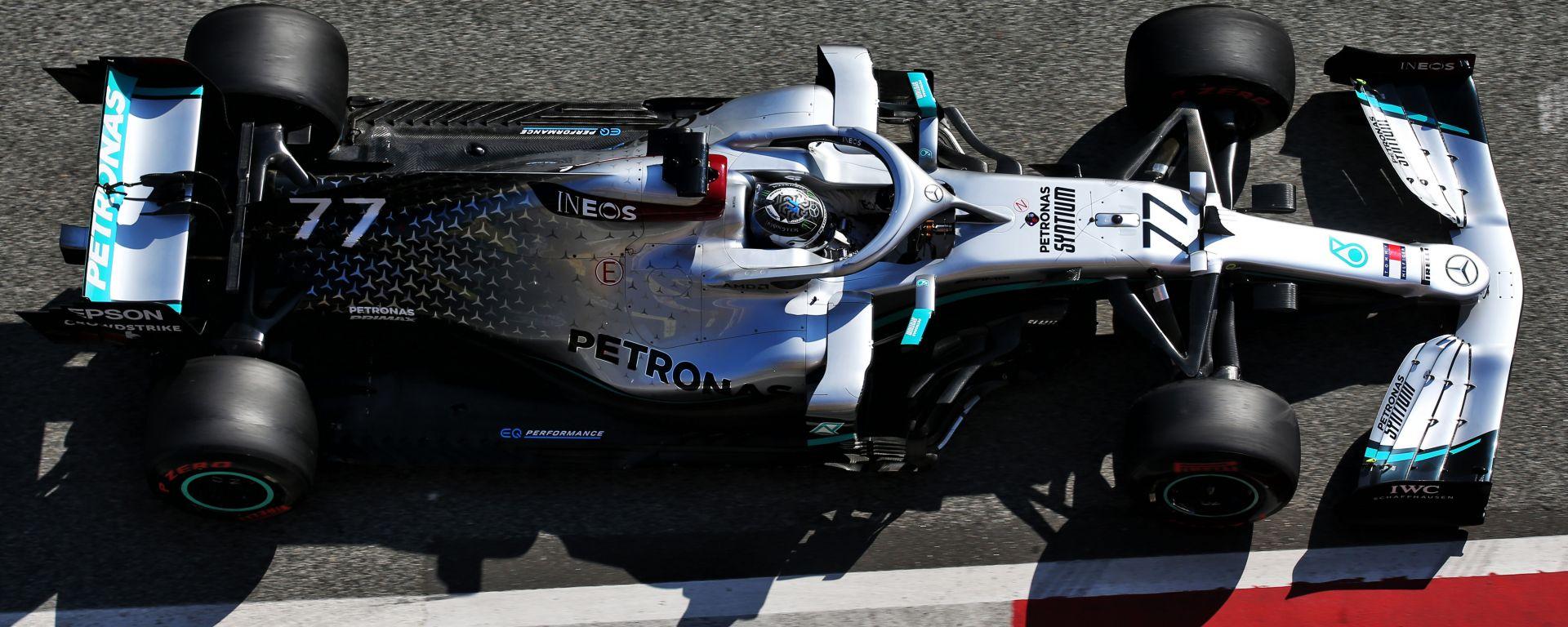 F1 Test Barcellona 2020 - Day-3: Bottas-Hamilton, uno-due Mercedes