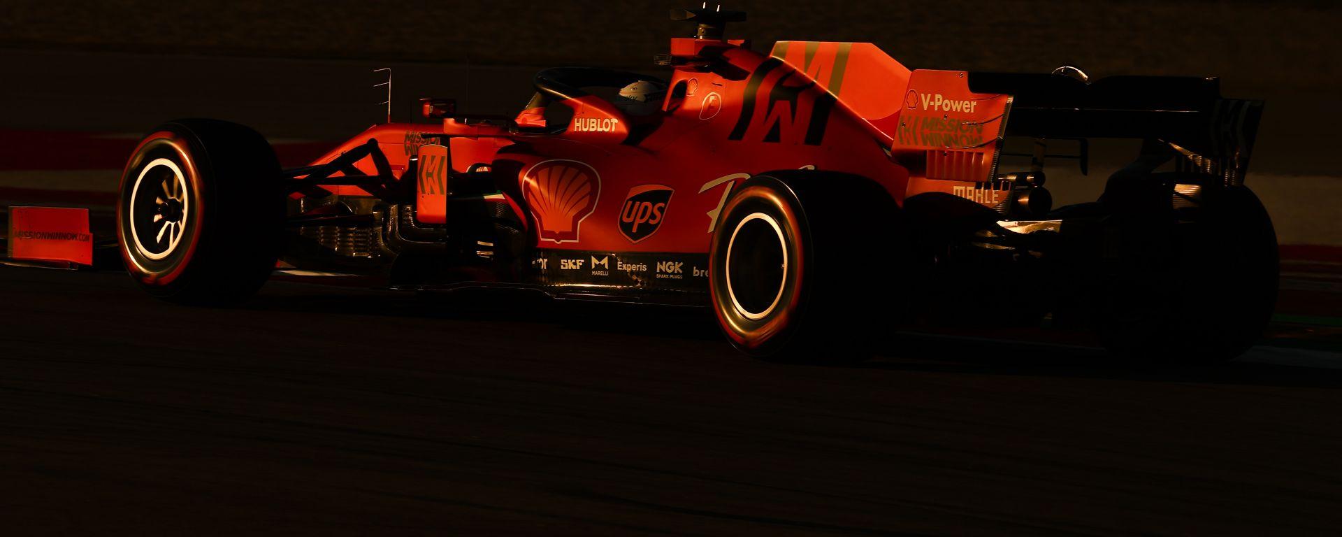 F1 Test Barcellona 2020: Sebastian Vettel (Ferrari). Foto: Alessio De Marco | Avens-Images.com