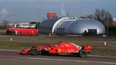 F1 Test Ferrari 2021, Fiorano: Mick Schumacher (Ferrari) esce dai box