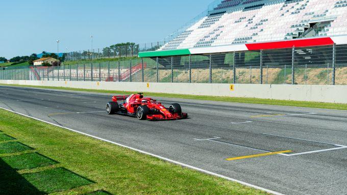 F1 Test Ferrari Mugello 2020: Sebastian Vettel in azione