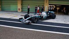 F1, test Pirelli 2019: George Russell (Mercedes) con le gomme da 18 pollici nei test di Abu Dhabi