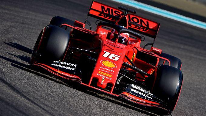 F1 Test Pirelli Abu Dhabi 2019, Yas Marina: Charles Leclerc (Ferrari) in pista