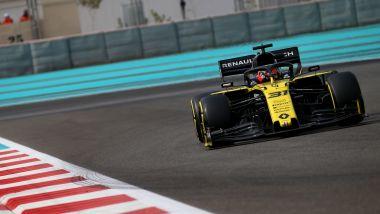 F1 Test Pirelli Abu Dhabi 2019, Yas Marina: Esteban Ocon con la Renault