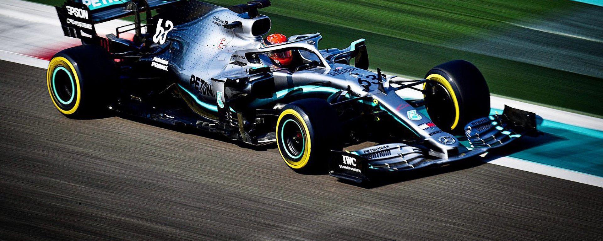 F1 Test Pirelli Abu Dhabi 2019, Yas Marina: George Russell (Mercedes)