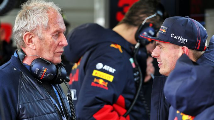 F1 Testing 2020: Helmut Marko e Max Verstapen (Red Bull)