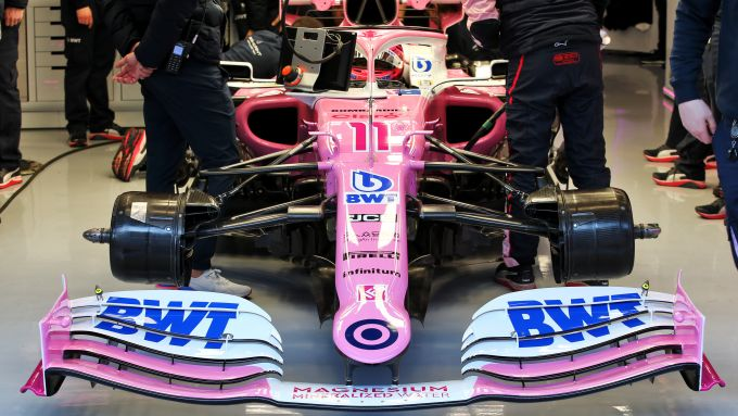 F1 Testing 2020: la Racing Point RP20 nel box