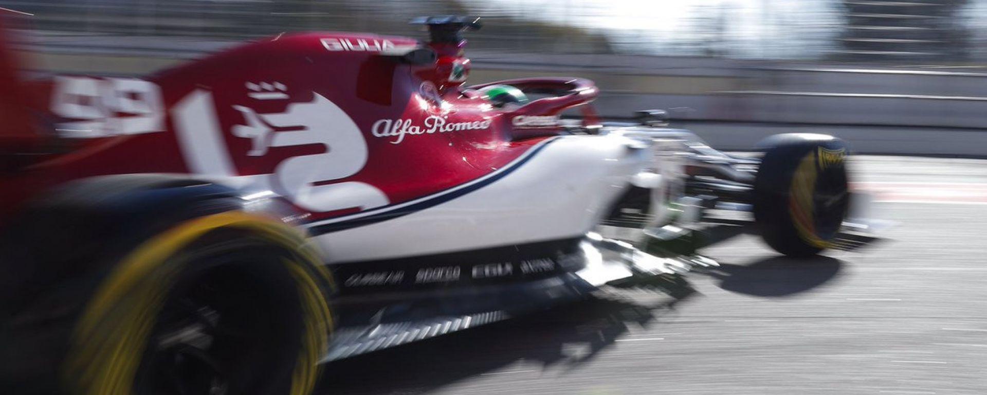 F1 Testing, Barcellona-2 day 1, Antonio Giovinazzi (Alfa Romeo)