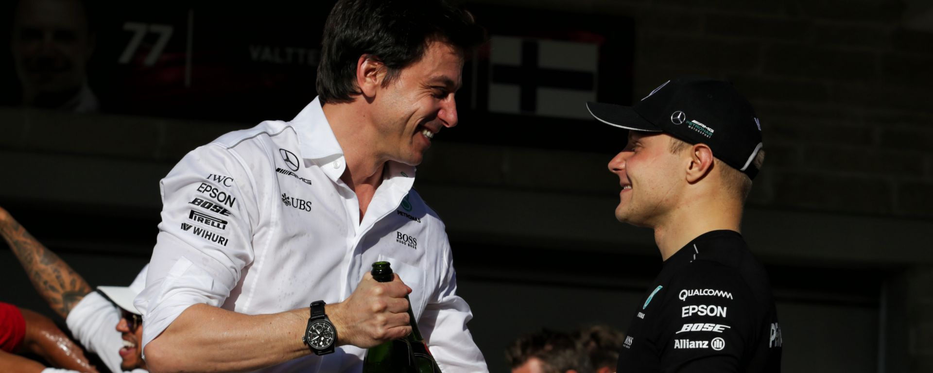 F1: Toto Wolff e Valtteri Bottas (Mercedes)