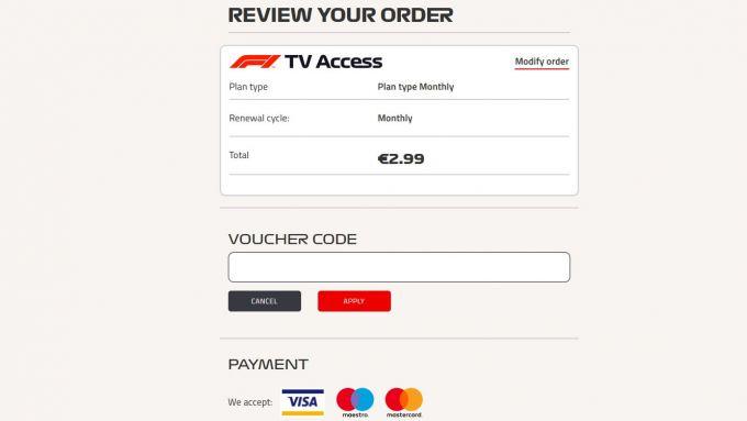 F1 TV, la pagina in cui sottoscrivere l'abbonamento gratuito