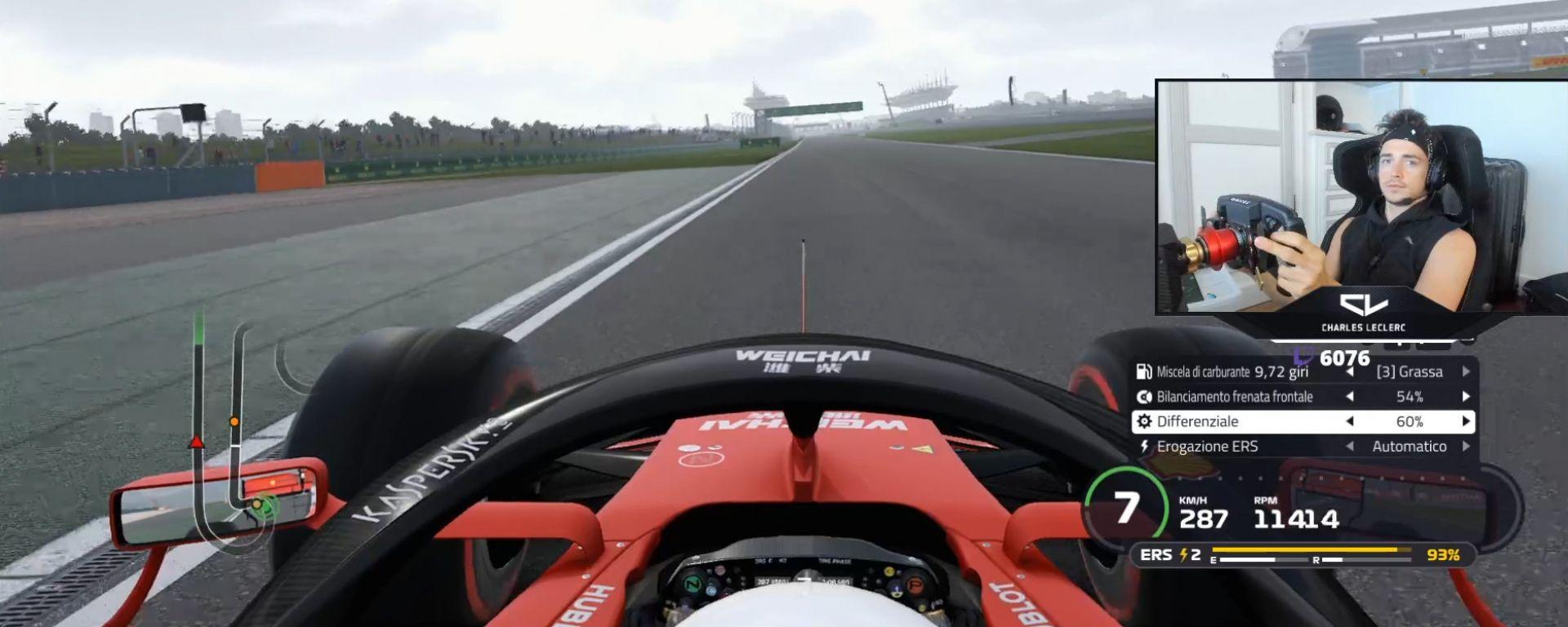 F1, una diretta Twitch di Charles Leclerc (Ferrari)