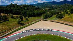 F1: veduta aerea del circuito del Mugello durante il test della Ferrari