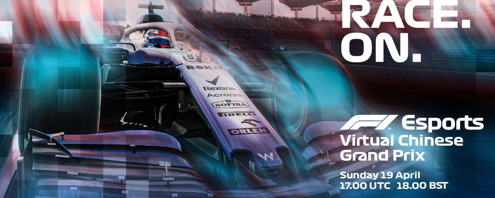 F1 VirtualGP Cina, la locandina dell'evento