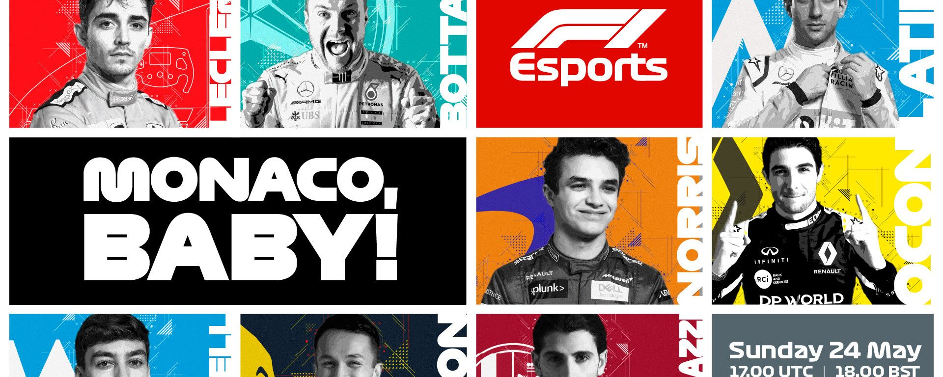 F1 VirtualGP Monaco: la locandina del Gp virtuale a Monte Carlo