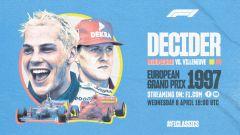 F1Rewind, la locandina del GP Europa '97 su YouTube