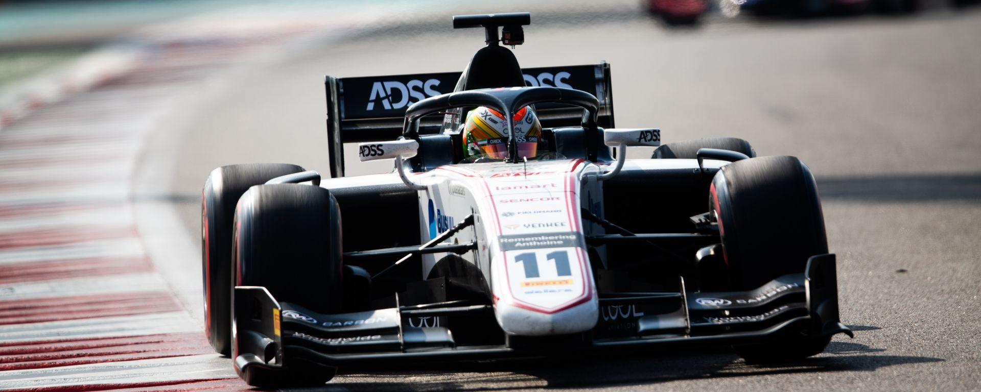 F2: Deletraz il più veloce nei test di Abu Dhabi