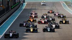 F2 GP Abu Dhabi 2019, Yas Marina: la partenza della Sprint Race