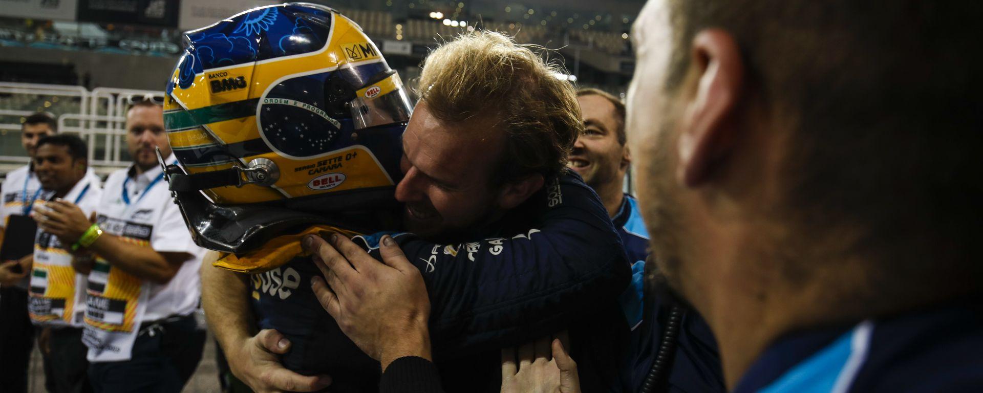 F2 GP Abu Dhabi 2019, Yas Marina: Sergio Sette Camara (DAMS) festeggia la vittoria