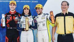 F3 Asia: il podio di gara 2 con Alders, Chadwick e De Francesco