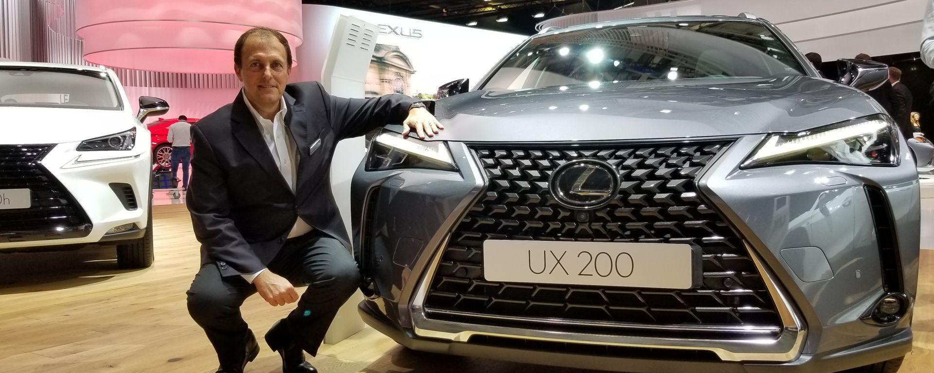Fabio Capano, stand Lexus salone di Parigi 2018