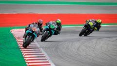 Fabio Quartararo, Franco Morbidelli e Valentino Rossi (Yamaha)