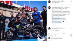 Fabio Quartararo impegnato con il team Tech Solutions Yamaha nei test del Paul Ricard (Giugno 2020)