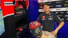 Fabio Quartararo nel box del team Monster Energy Yamaha