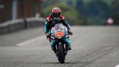 Fabio Quartararo (Yamaha Petronas) in pista al Sachsenring