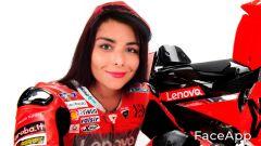 FaceApp, da Danilo a Danila Petrucci (Ducati)