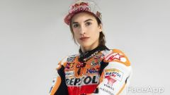 FaceApp, da Marc a Marcolina Marquez (Honda)