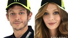 FaceApp, da Valentino a Valentina Rossi (Yamaha)