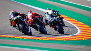 Fasi di gara GP Aragona 2020, Petrucci (Ducati), Quartararo (Yamaha)