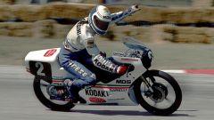 Fausto Gresini nel 1987 a Misano