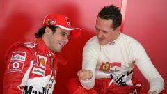 Felipe Massa e il suo maestro, Michael Schumacher - Ferrari