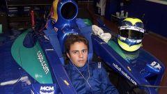 Felipe Massa nell'abitacolo della Sauber nel 2001 al Mugello, il suo primo giro su una Formula 1