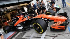Fernando Alonso al volante della McLaren 2017