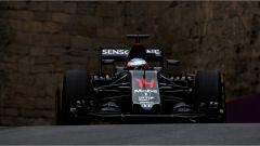 Fernando Alonso at Baku Street circuit
