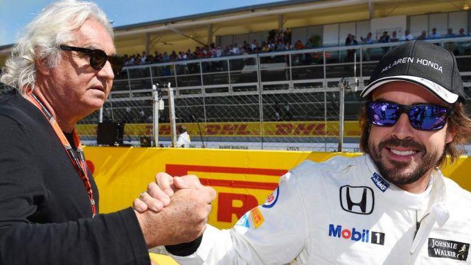 Fernando Alonso e Flavio Briatore - F1 2017