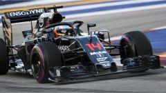 Fernando Alonso e la prova del sistema di protezione Halo - F1 GP Singapore
