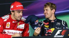 Fernando Alonso e Sebastian Vettel, rivali nel mondiale 2012 di Formula 1