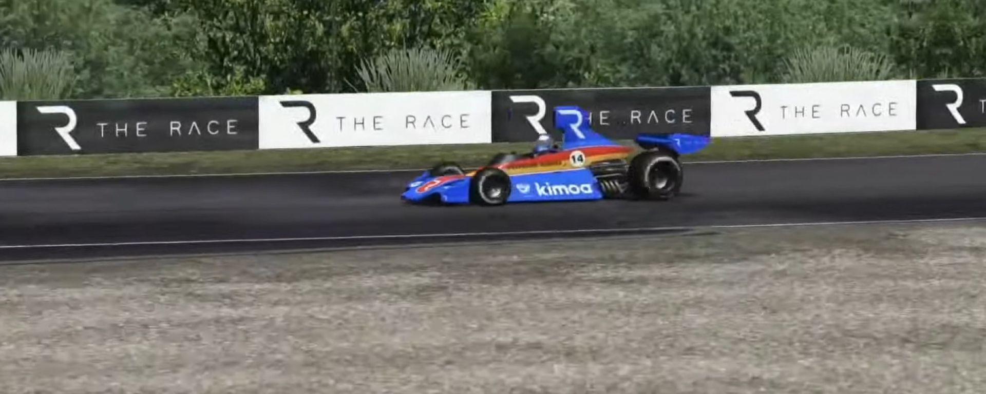 Fernando Alonso in pista nella All-Stars Legends del portale The Race