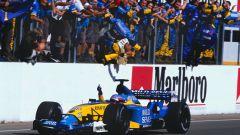Fernando Alonso - la prima vittoria con la Renault R23 in Ungheria (2003)