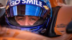 Fernando Alonso nell'abitacolo della sua monoposto IndyCar