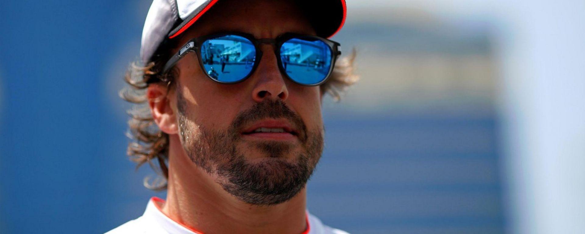 Fernando Alonso outside Baku Street Circuit