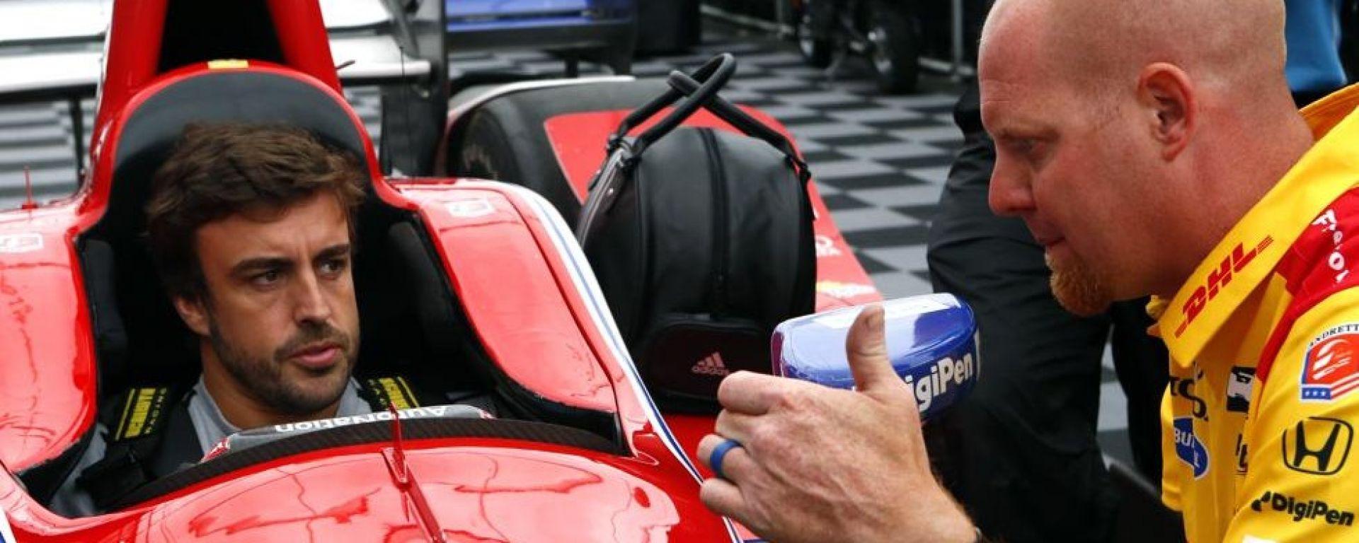 Fernando Alonso - primo test positivo a bordo della Formula Indy americana