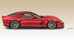 Ferrari 250 GTO by Ares Design: vista laterale