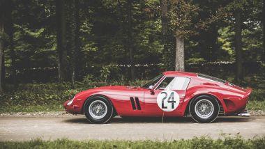 Ferrari 250 GTO: visuale laterale