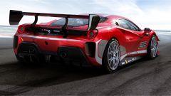 Ferrari 488 Challenge EVO: vista di 3/4 posteriore