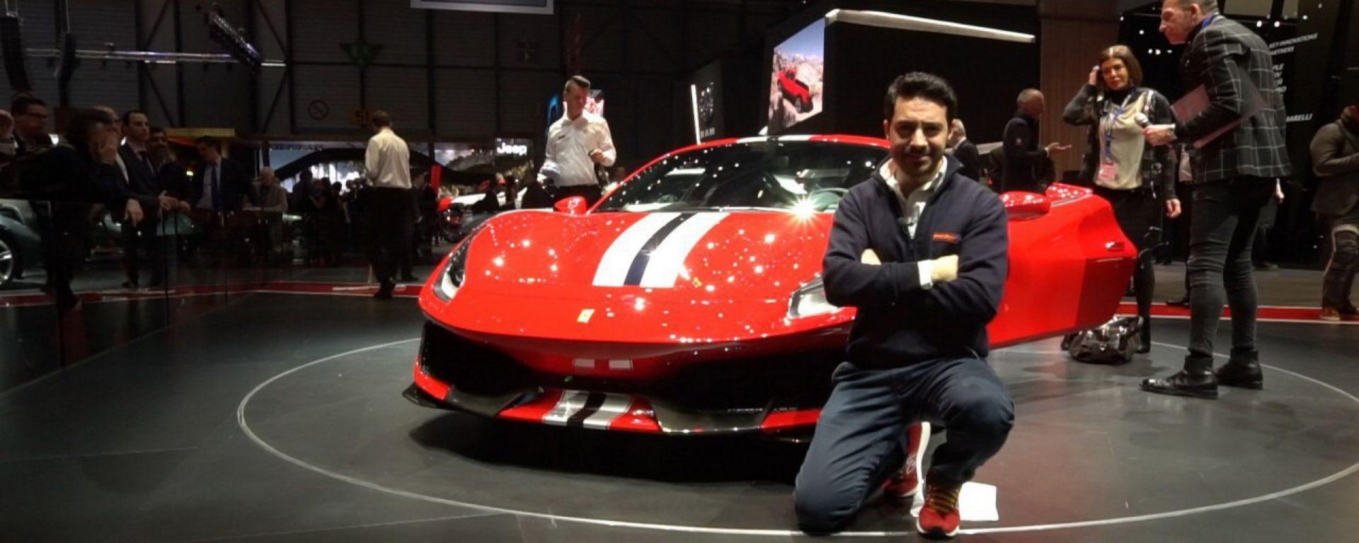 Ferrari 488 Pista: in video dal Salone di Ginevra 2018