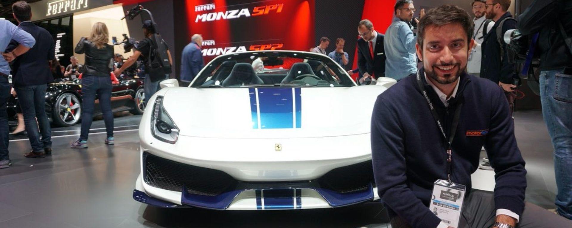 Ferrari 488 Pista Spider: la Serie Speciale in video da Parigi