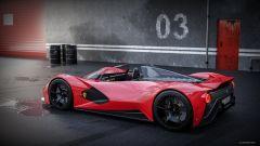 Ferrari Aliante Barchetta: vista 3/4 posteriore